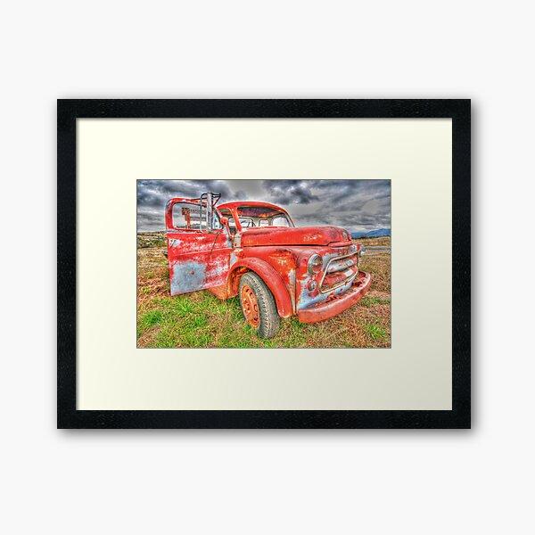 Rusty Dodge Pickup Truck Framed Art Print