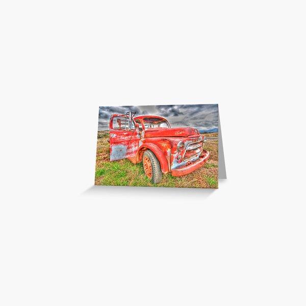 Rusty Dodge Pickup Truck Greeting Card