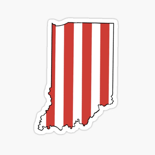 Candy Striped Indiana Sticker