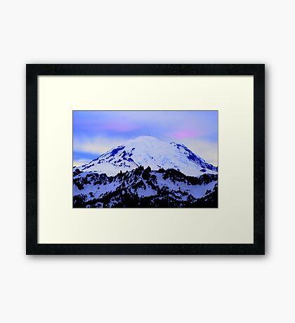 Mt Rainier from Chinook Framed Print