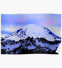 Mt Rainier from Chinook Poster
