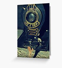 Autographic Brownie Folding Camera Greeting Card