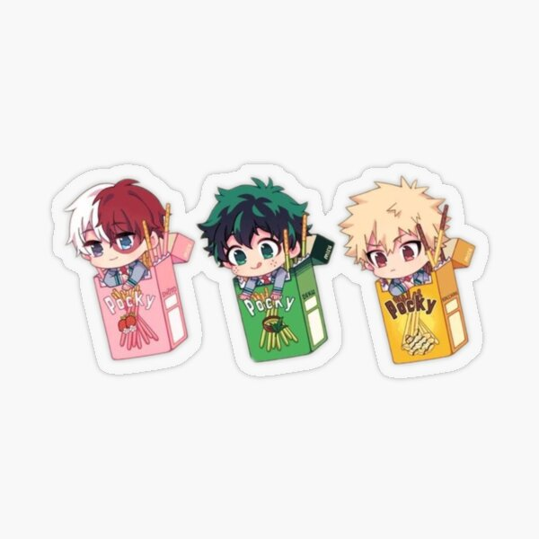 Bakutododeku chibi Sticker transparent