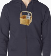 Where does the lotion go? Zipped Hoodie
