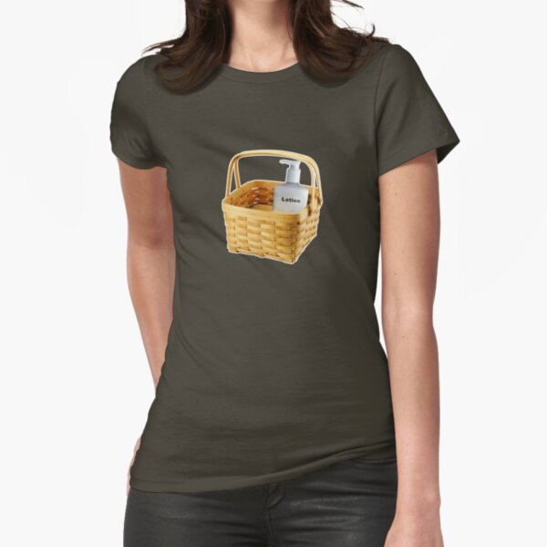 Where does the lotion go? Fitted T-Shirt