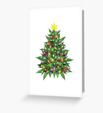 Marijuana Christmas Tree Greeting Card