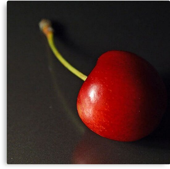 Red  Cherry Isolated on Black Background by taiche