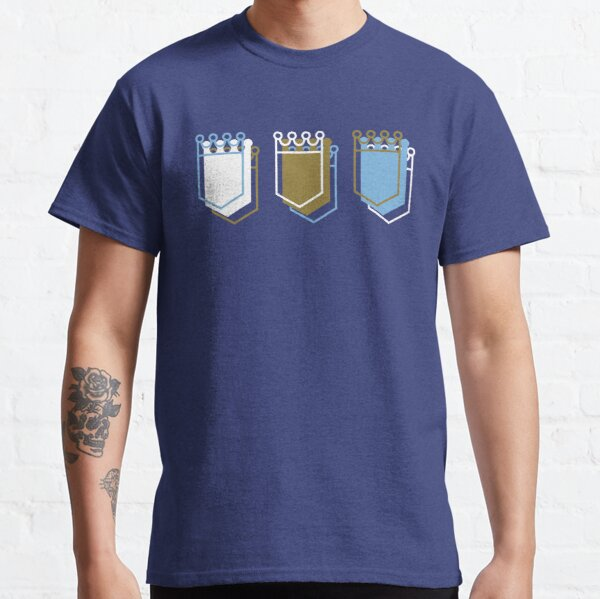 Royals Shield Pattern, Royal Blue Background Classic T-Shirt