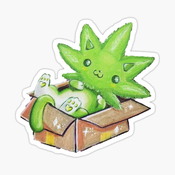 Kush Kitty Sticker