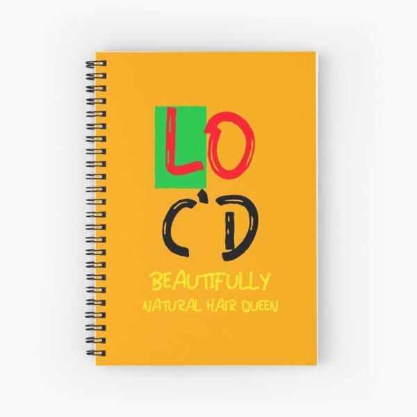 Copy of Beautifully loc'd natural hair Queen  Spiral Notebook
