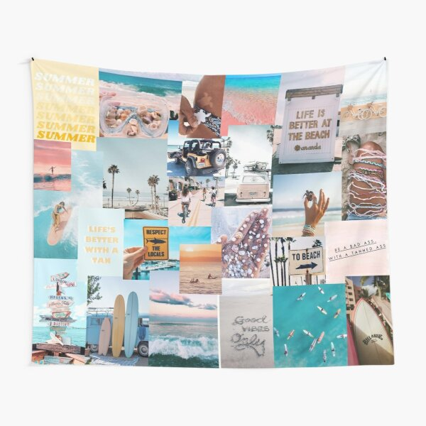 beach collage Tapestry