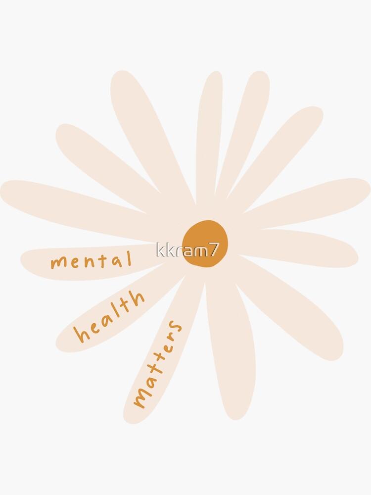 mental health matters flower by kkram7