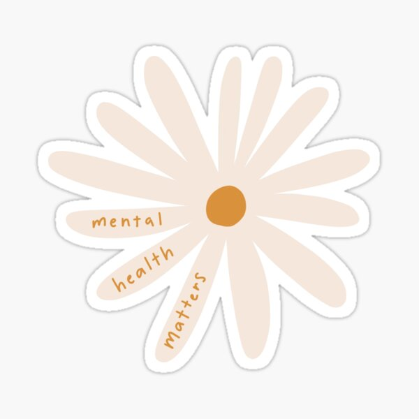 mental health matters flower Sticker