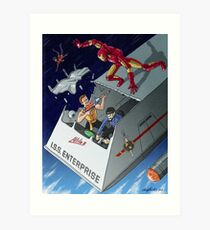 Iron Man vs Mirror Trek Art Print