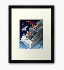 Iron Man vs Mirror Trek Framed Print