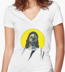 Zombie Jesus [without text] Women's Fitted V-Neck T-Shirt