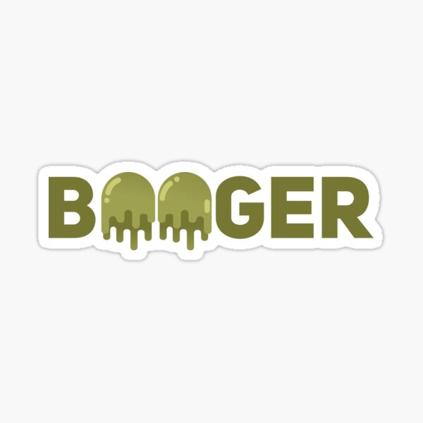 Booger Verbicon Sticker