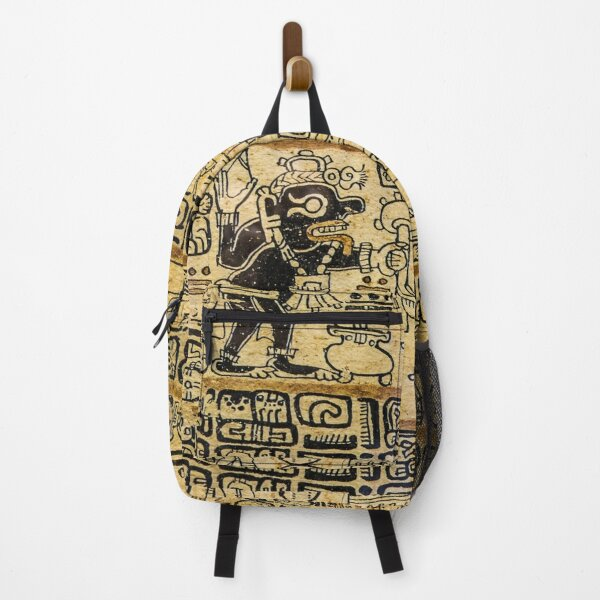 Aztec Native Culture Sketches On Shirts Bags And Home Decor Backpack