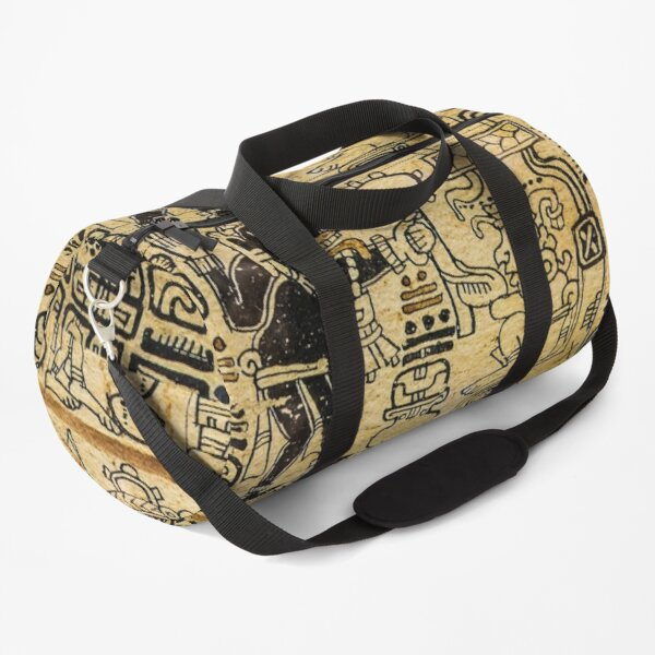 Aztec Native Culture Sketches On Shirts Bags And Home Decor Duffle Bag