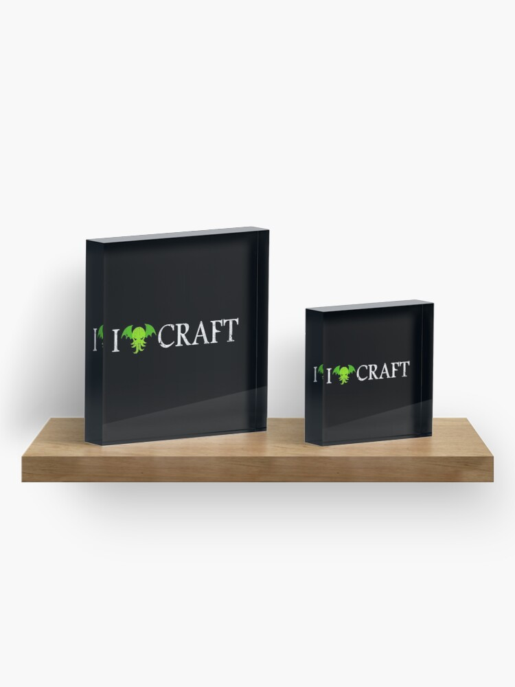 Alternate view of I Love Craft ✅ Cthulhu - H. P. Lovecraft  Acrylic Block