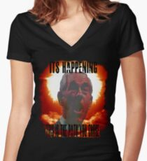It's Happening Women's Fitted V-Neck T-Shirt