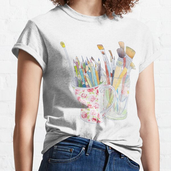 Art Tools: pencils and brushes Classic T-Shirt