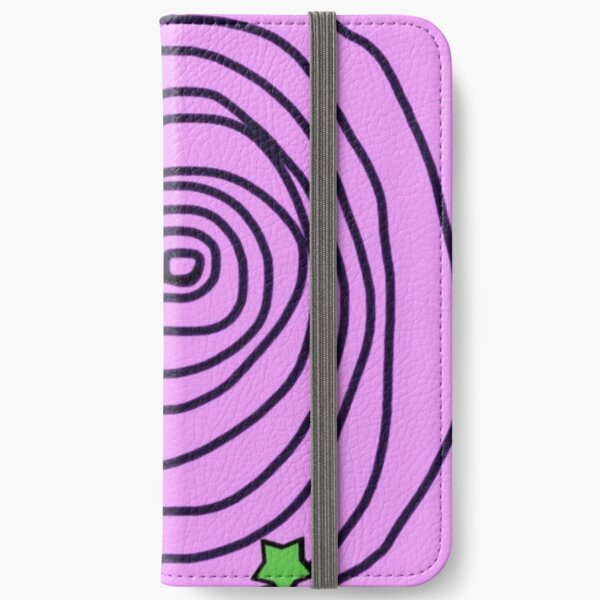 Green Star Swirl #3 iPhone Wallet