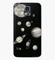 Black and White Solar System Case/Skin for Samsung Galaxy