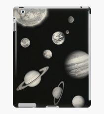 Black and White Solar System iPad Case/Skin
