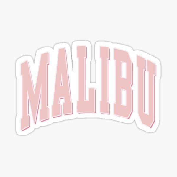 Malibu Pink Shadow Varsity Lettering  Sticker