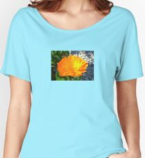 Bright Orange Marigold In Bright Sunlight Women's Relaxed Fit T-Shirt