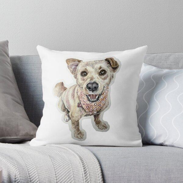 Pet Portrait (Floppy Ear) Throw Pillow