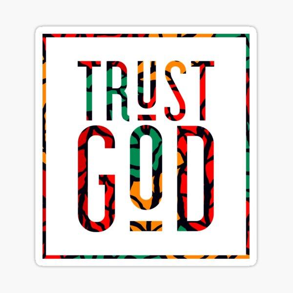 Trust God, Autumn Colors Graphic Text Sticker