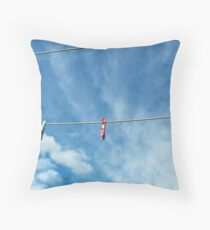 Pegs on a Line Throw Pillow