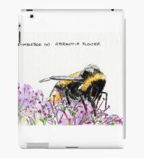 Bumble Bee browsing on astrantia flower iPad Case/Skin