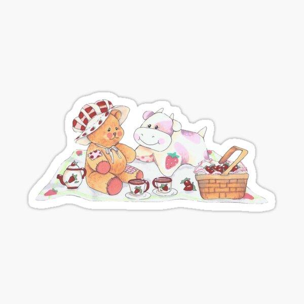 Strawberry Cow and Girlfriend Sticker