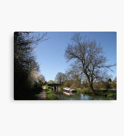 Bridge Near Bedwin - Kennet and Avon Canal Canvas Print