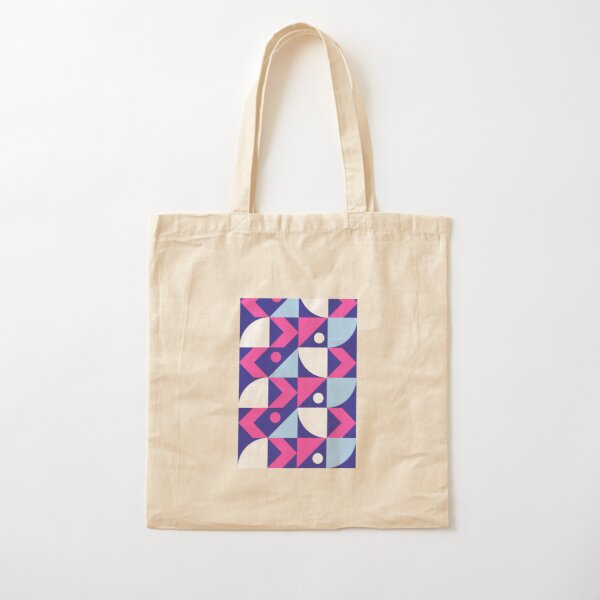 Abstract Colored Design Cotton Tote Bag