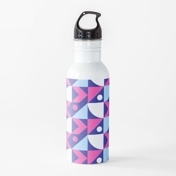 Abstract Colored Design Water Bottle