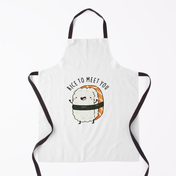Rice To Meet You Cute Sushi Pun Apron
