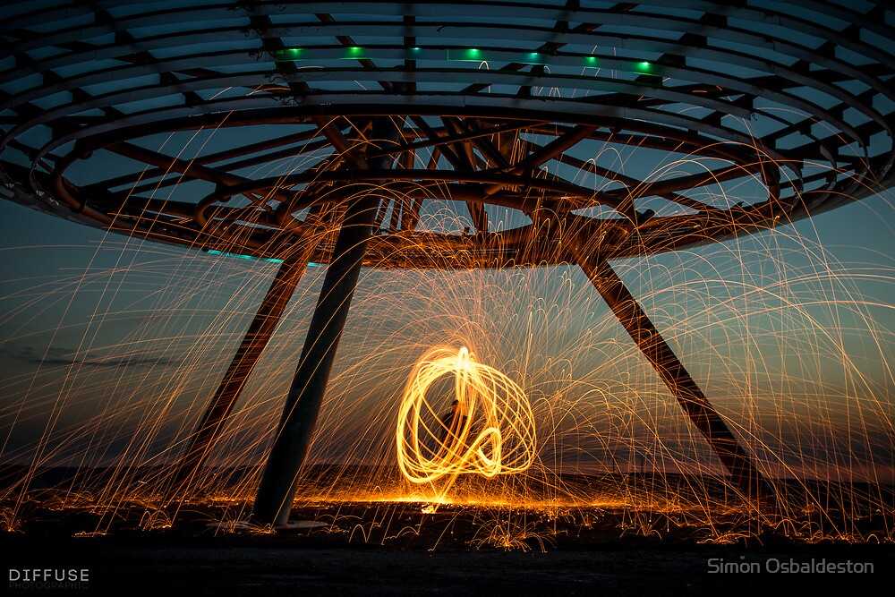 Halo on Fire - Haslingden Halo by Simon Osbaldeston