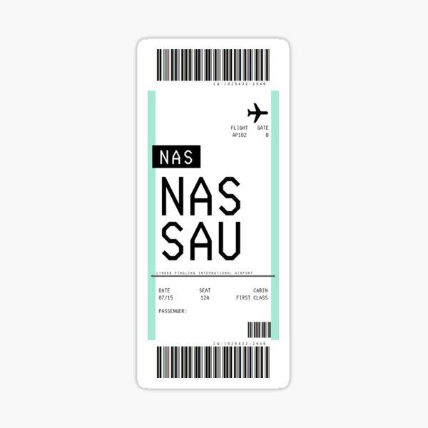 Nassau Bahamas Boarding Pass Sticker