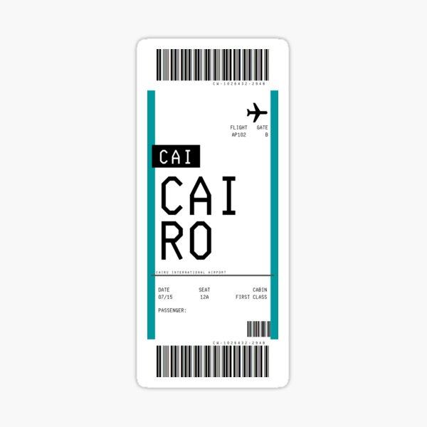 Cairo Boarding Pass Sticker