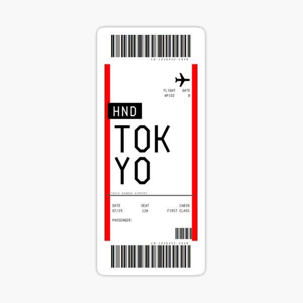 Tokyo Boarding Pass Sticker