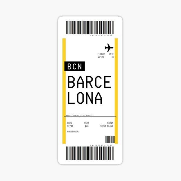 Barcelona Boarding Pass Sticker