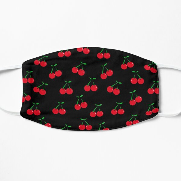 Cherries 2 (on black) Flat Mask