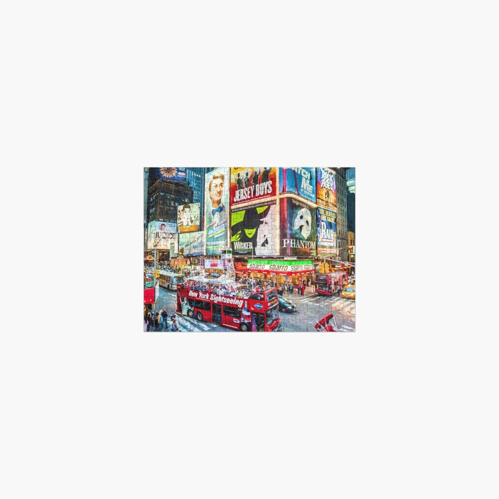 Times Square II (digitally repainted) Jigsaw Puzzle