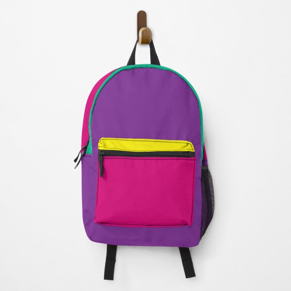 Oliver Tree Purple Pink Yellow Teal Backpack