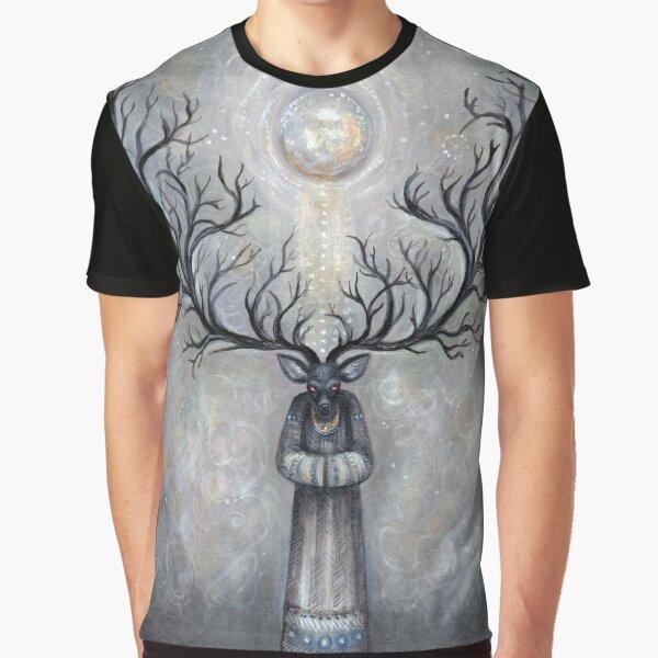 Horned Spirit Mens T-Shirt BlackForestMoonWitchcraftCeltic