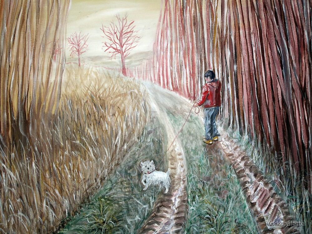 Boy and dog along the Pocklington Canal by Yorkspalette